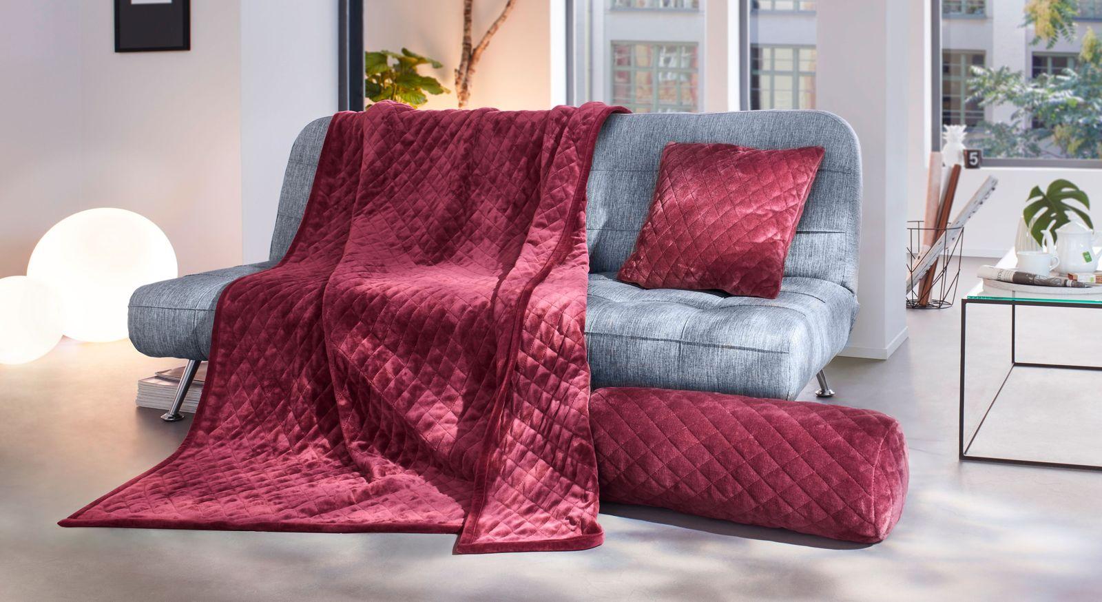 Wohndecke Traumglanz mit dazu passenden Kissen