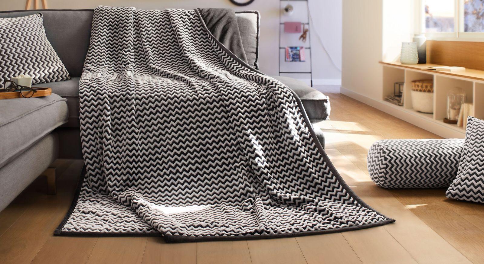 Kuschelige Wohndecke Wellenmeer in 150x200 cm