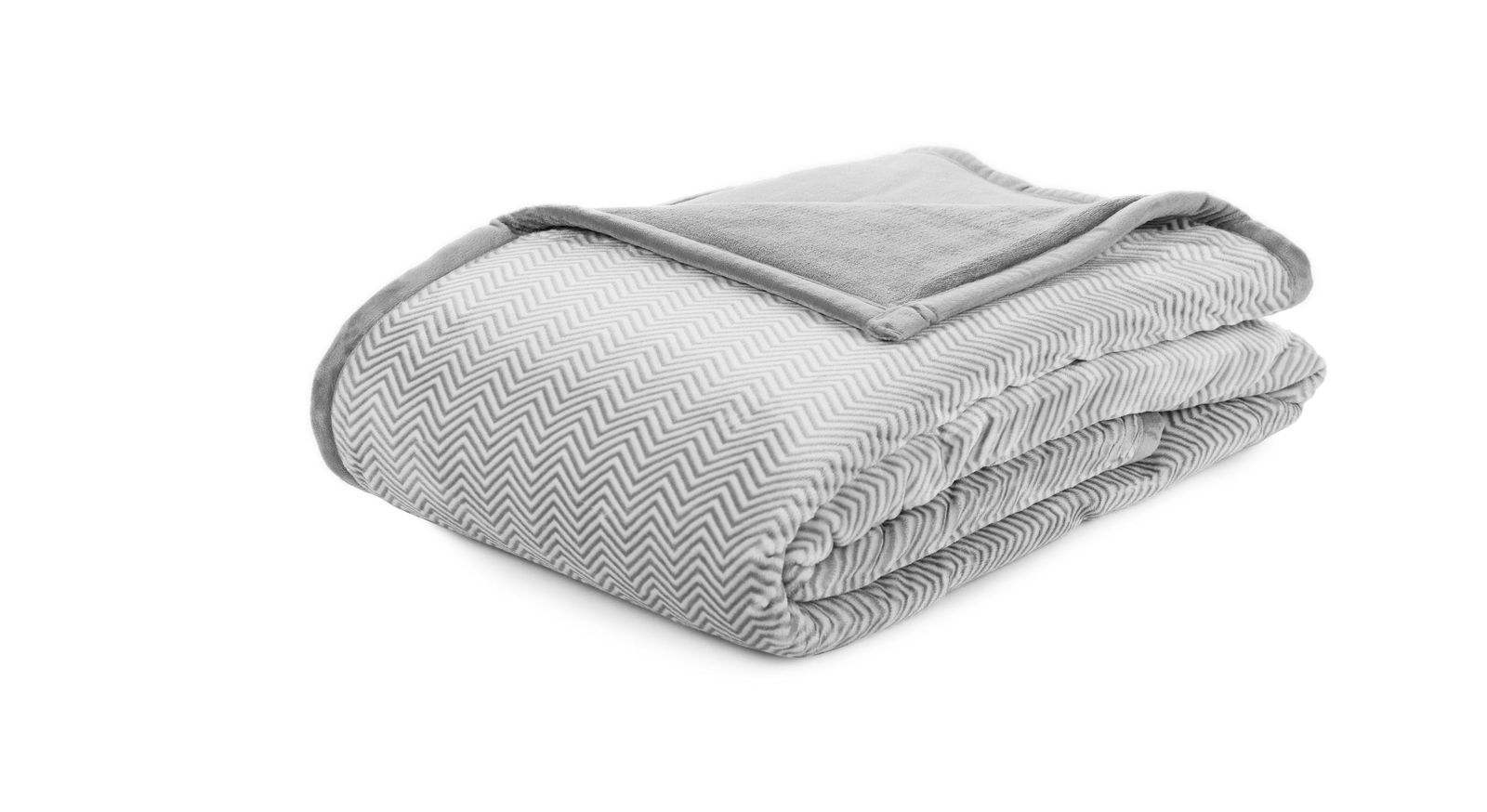 Silberne Wohndecke Zackenspiel in 150x200 cm