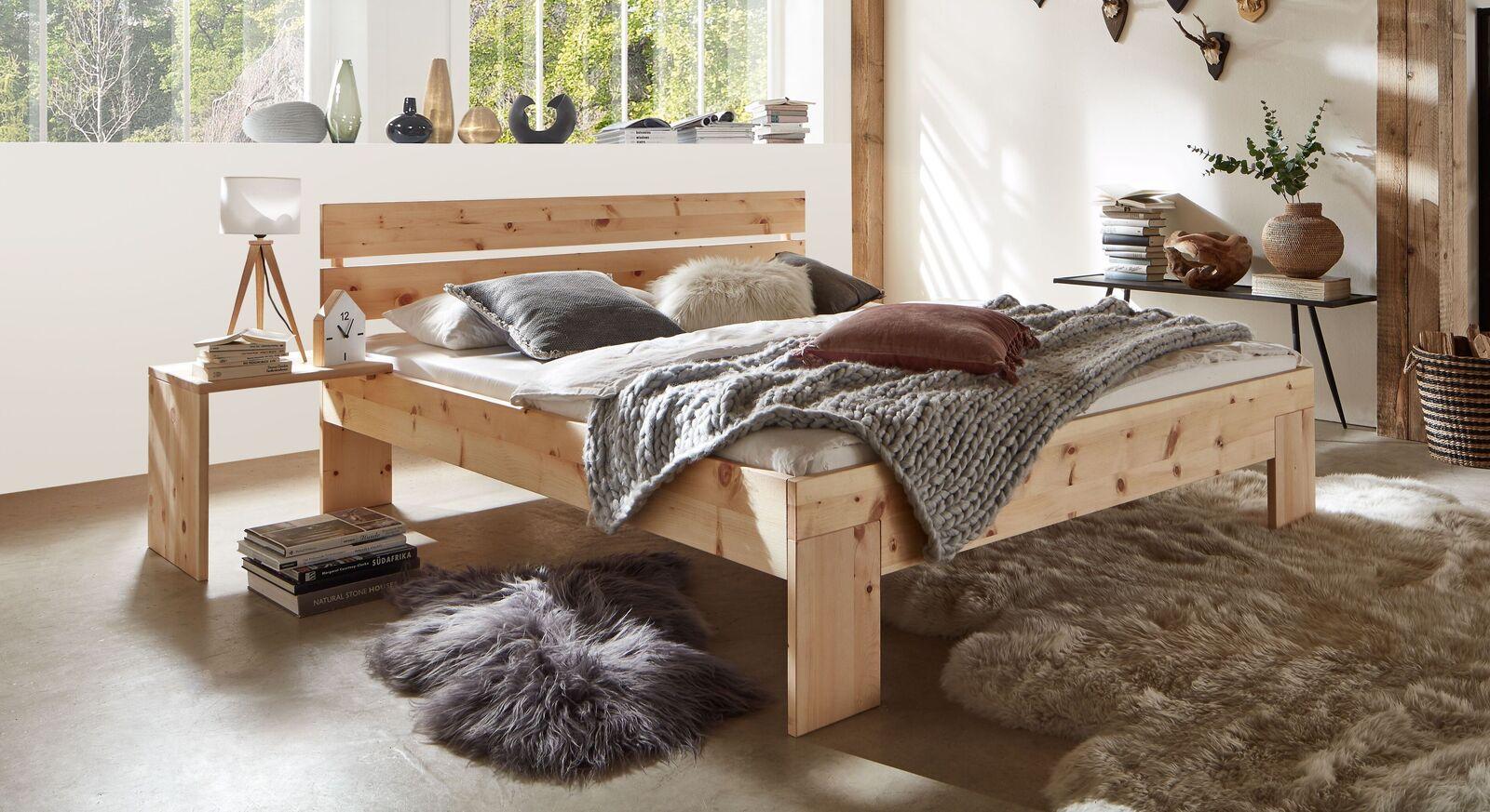 Bett Bondone aus biologisch geöltem Zirbenholz