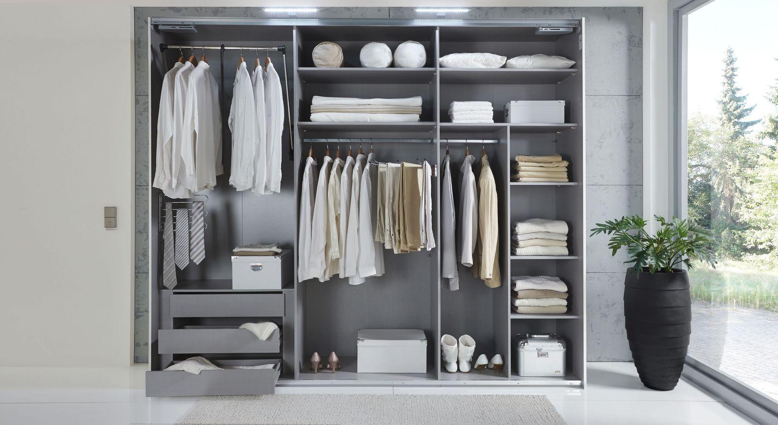 Übersicht der praktischen Zusatzausstattung & Beleuchtung für Kleiderschränke
