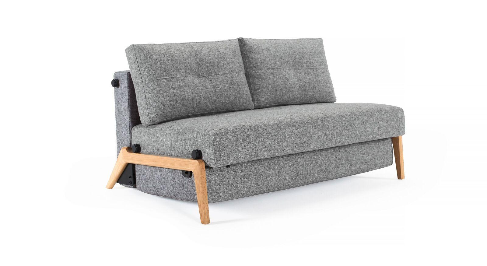 Zweisitzer Schlafsofa Carlton mit Twist-Bezug in Granit