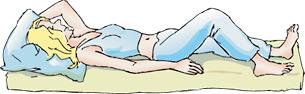 So schlafen Sie als Rückenschläfer erholsamer