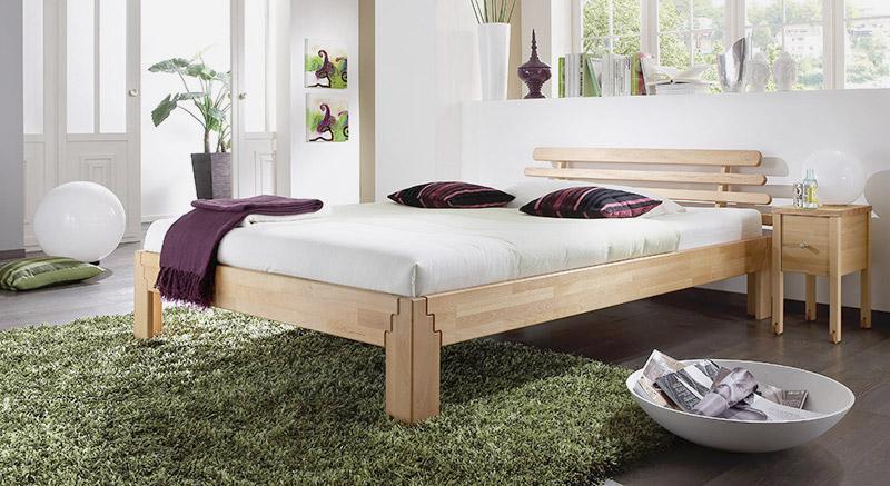 Bett Mit Geölter Oberfläche