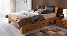 Komplettes Bett mit Boxspring-Einlegesystem