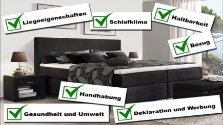 stiftung warentest lattenrost und matratze im test. Black Bedroom Furniture Sets. Home Design Ideas