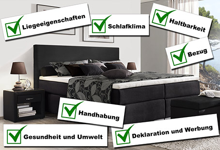 boxspringbetten test stiftung warentest teaser. Black Bedroom Furniture Sets. Home Design Ideas
