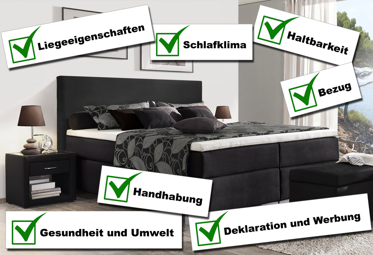 stiftung warentest von boxspringbetten in 2016 reaktion. Black Bedroom Furniture Sets. Home Design Ideas