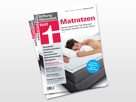stiftung warentest von matratzen in 2016 reaktion. Black Bedroom Furniture Sets. Home Design Ideas