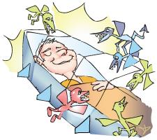 Vorgänge in Körper und Gehirn während der Schlafphasen