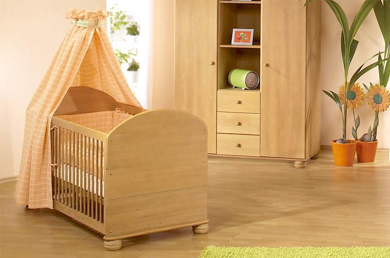 Kinderbett Mit Gewachster Oberfläche