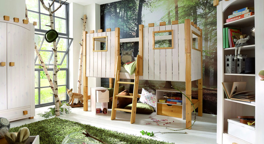 Kinderzimmermöbel holz  Anregungen für altersentsprechende Einrichtung von Kinderzimmern