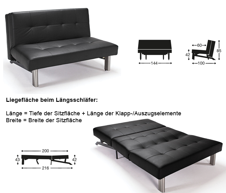 sofa liegeflche interesting schlafsofa with sofa liegeflche interesting hhe der sitzflche. Black Bedroom Furniture Sets. Home Design Ideas
