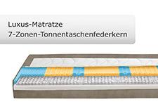 Visualisierung einer Luxus 7-Zonen Tonnentaschenfederkernmatratze