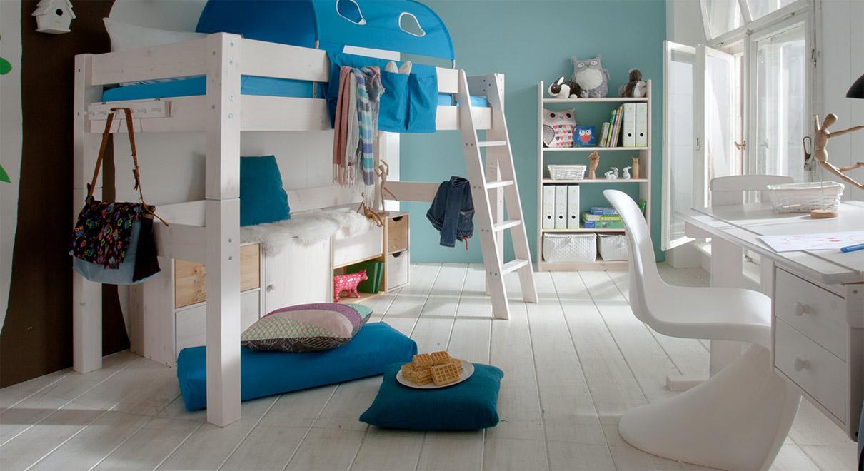 Etagenbett Weiß Mit Rutsche : Hochbett mit rutsche selber bauen so geht s