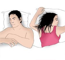 Einschlafpositin Platzräuber