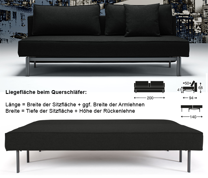 querschl fer schlafsofas im gro en online test und vergleich 2018. Black Bedroom Furniture Sets. Home Design Ideas