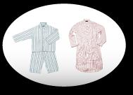 blauer und rosaner Pyjama
