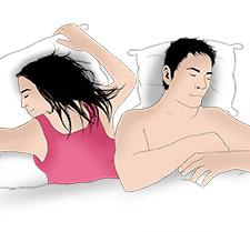 Einschlafposition Schere