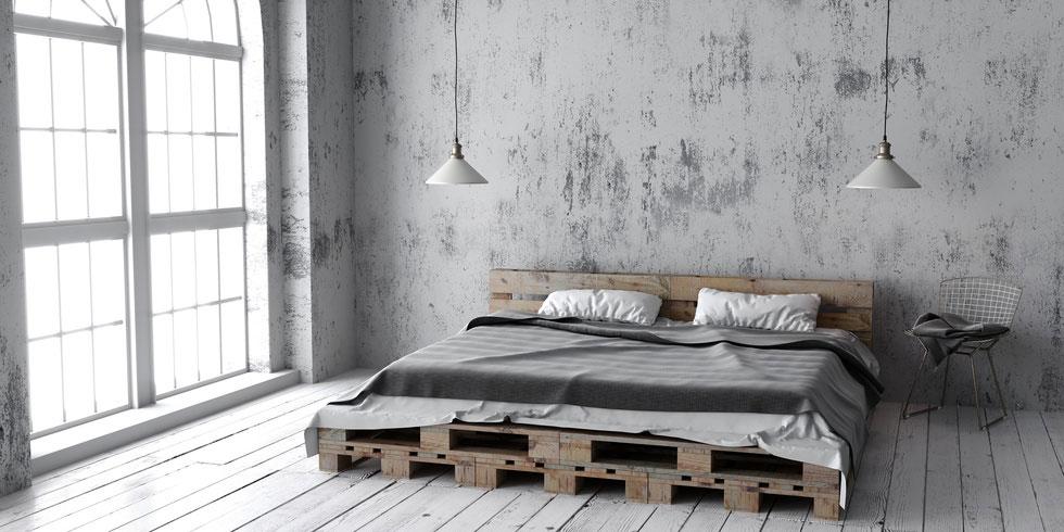 Mobel Im Industrial Stil Loft Flair Im Schlafzimmer