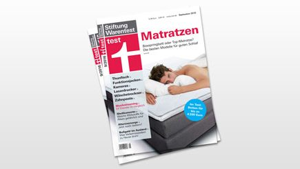 stiftung warentest lattenrost und matratze im test unser statement. Black Bedroom Furniture Sets. Home Design Ideas